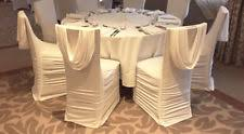ruched chair covers 100 spandex ruched back wrap swag chair covers white ivory for ebay