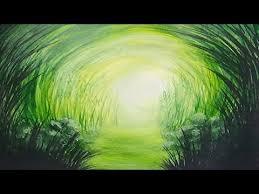Monochromatic - acrylic painting grassy path monochromatic painting youtube
