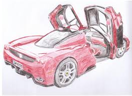 ferrari sketch how to draw a ferrari enzo drawing lessons