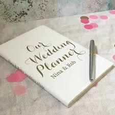 wedding planner journal personalised wedding planner journal by livi