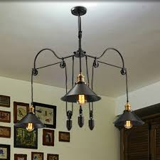 Foyer Pendant Light Fixtures Shop Loft Style Vintage Industrial Lighting Pulley Pendant