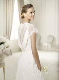 grecian wedding dress pronovias white chiffon urbina destination wedding dress size