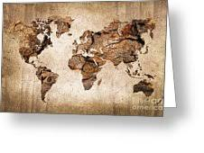 wood world map photograph by delphimages photo creations