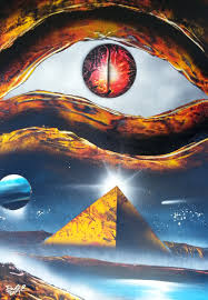 Amazing Spray Paint - amazing spray paint art evil eye and pyramide made by street
