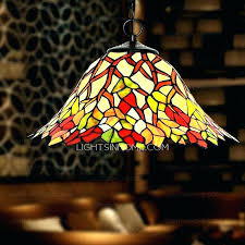 Stained Glass Pendant Light Stained Glass Hanging L Pysp Org