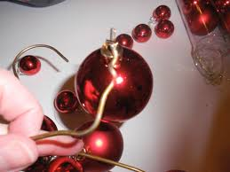 6 dollar wire hanger christmas ornament wreath and bow tutorial