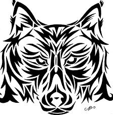 wolf tribal design drawing by nikolai bartolf on deviantart