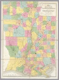Maps Of Louisiana Map Of Mississippi Louisiana U0026 Arkansas David Rumsey