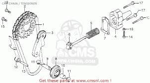 honda cb750f2 750 super sport 1977 usa cam chain tensioner