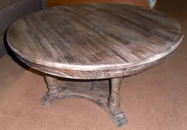 furniture vintage round pedestal coffee table with shelf