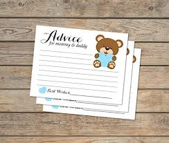 to be cards boy teddy baby shower advice cards set of 20