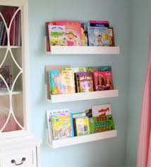 wall mounted bookshelves kids exciting plans free bathroom