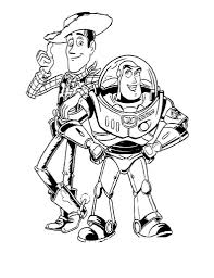 coloring pages woody and buzz coloring pages mycoloring free