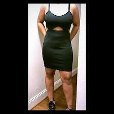 black cut out dress 76 h m dresses skirts nwot cut out black