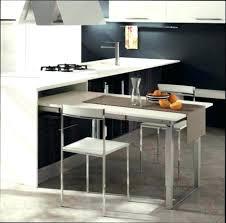 table cuisine design meuble cuisine avec table escamotable