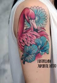 flamingo tattoo pink color www tattoosberlin com jugendstil