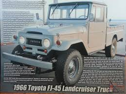 toyota old truck toyota fj45 truck long bed ready to go 4wd rare bid to win