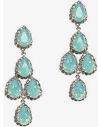 fabulous earrings erickson beamon duchess of fabulous earrings turquoise in blue lyst