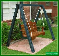 building a porch swing frame design idea home landscaping