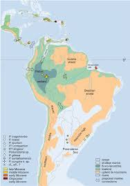 Map Of Caribbean And South America by Tentative Middle Miocene Palaeogeography Of The Caribbean