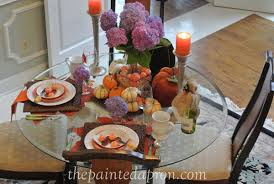 tablescapes fall hydrangeas and pumpkins the painted apron