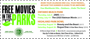 movies in the parks monroe county ny