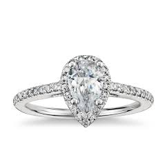 oval shaped engagement rings pear shaped halo diamond engagement ring in platinum blue nile