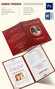 funeral programs wording 17 funeral program templates free premium templates