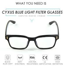 blue light filter goggles cyxus anti eye strain blue light computer glasses blocking uv gaming