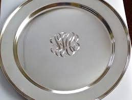 engraved silver platter silver plated 4 inch plate salver personalised engraved engraved