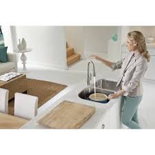 Hands Free Kitchen Faucet Moen 7594ec Arbor Chrome Pullout Spray Kitchen Faucets Efaucets Com