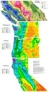 Oregon State University Map Oregon Snowfall Map Oregon Map