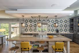 Modern Farmhouse Kitchens Kitchen Of The Week Tile Sets The Tone In A Modern Farmhouse Kitchen