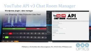 youtube live api v3 chat room manager