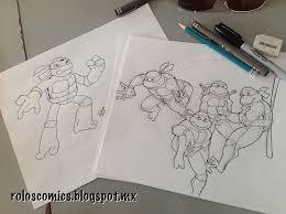 teenage mutant ninja turtles sketches by roloscomics on deviantart