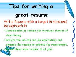 Sample Of An Effective Resume by Resume Writing Tips Haadyaooverbayresort Com