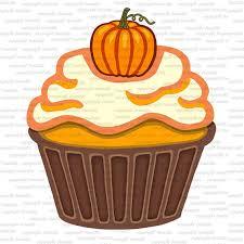 pumpkin thanksgiving autumn cupcakes digital clip