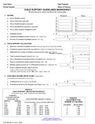 child support guidelines worksheet ma the best and most