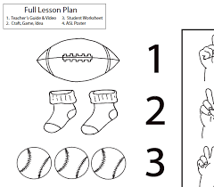 lesson plan numbers 6 10 asl teaching resources