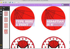 spider man printable personalized cupcake toppers temporary