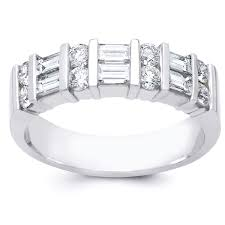 baguette diamond band and baguette diamond wedding band
