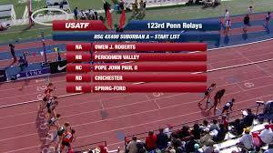 usatf tv videos girls 4x400m relay high south jersey
