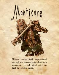manticore by charmed bos on deviantart halloween livre sorciere