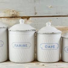 enamel kitchen canisters vintage french kitchen canister set white enamel french canisters