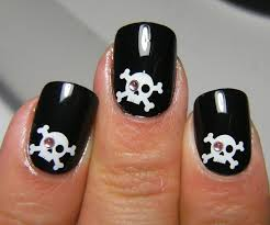 deez nailz skull u0026 crossbones fing u0027rs nails
