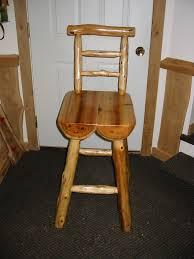 half log bar stools