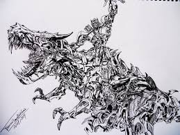 transformers 4 optimus prime and grimlock drawing by franismael117