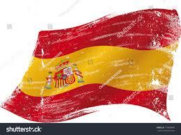 Spainish Flag Spanish Flag Grunge Spanish Flag Texture Stock Vector 173089040