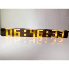 diy creative remote control digital led wall clock modern