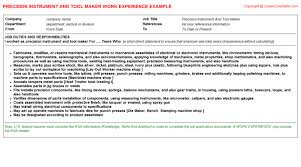 Tool And Die Maker Resume Examples by Tool And Die Maker Resume Samples Jobhero